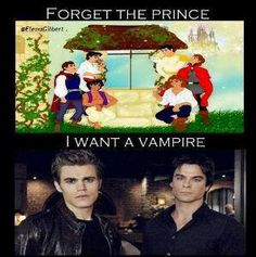 Ian Somerhalder & Paul Wesley you will be mine once I find you two! Princes are boring, Vampire ftw! Vampire Diaries Memes, Vampire Diaries Damon, Serie The Vampire Diaries, Vampire Daries, Vampire Diaries The Originals, Damon Salvatore, Paul Wesley, Power Rangers, Rock And Roll