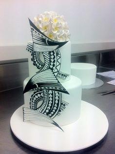 Tattoo Inspired Wedding Cake