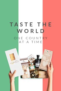 Taste the delicious flavors from Italy straight from your home. Discover the Italian passion, culture, and foods with Try The World. Receive a gourmet box from a new country every month! Begin today and start with a FREE Thailand Box! Hurry, offer valid until 9/31/16.