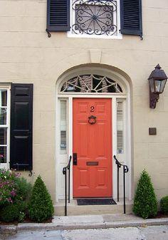 Coral door--for the back of my front door