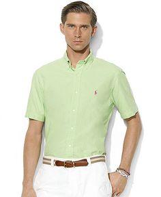 Polo Ralph Lauren Short Sleeve Shirt, Classic-Fit Short-Sleeved Cotton Button-