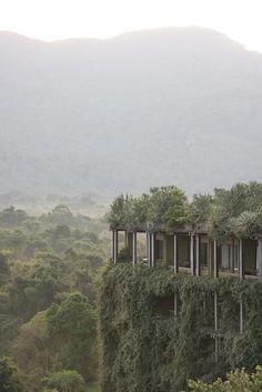 architectureandfilmblog:    Heritance Kandalama,Geoffrey Bawa, 1995    ECO HOTEL: HERITANCE KANDALAMA (2010) Tropical Modernism from Sri Lanka's most influential architect.