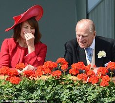 In stitches: There is never a dull moment when Philip is around. Carole Middleton and Prince Philip have a laugh. Ladies Day, Royal Ascot- June 21, 2012