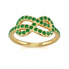 Emerald Knot Ring, Colors of Eden #emerald #infinity #ring Can I get it in white gold?