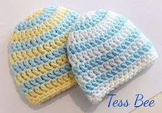 NICU Baby Hat Baby Boy Hat 2x Striped Baby Hats Premature | Etsy Baby Beanie Hats, Baby Girl Hats, Girl With Hat, Preemie Babies, Premature Baby, Newborn Baby Boy Gifts, Crochet Baby Boy Hat, Crochet Round, Nicu