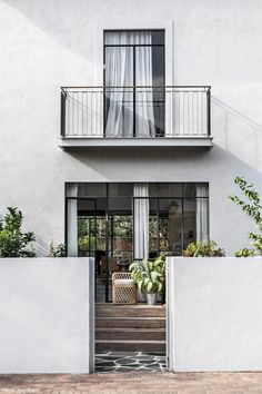 my scandinavian home: A Beautiful, Contemporary Home Designed For Slow Living Bauhaus, Semi Detached, Detached House, Beautiful Home Designs, Beautiful Homes, Pine Wood Flooring, Stone Stairs, Slow Living, Scandinavian Home