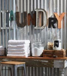 I like the idea of putting the letters in the utlity/laundry room