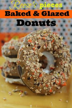 Reese's Pieces Baked & Glazed Donuts