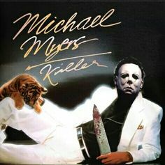 Michael Myers re-imaged upon Michael Jackson's Thriller album. Horror Movie Art, Horror Films, Halloween Movies, Scary Movies, Funny Horror, Horror Movie Icons, Michael Myers Halloween, Halloween Horror, Horror Movie Characters