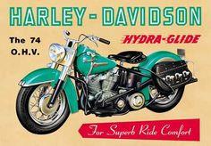 Vintage Advertising Posters   Harley Davidson