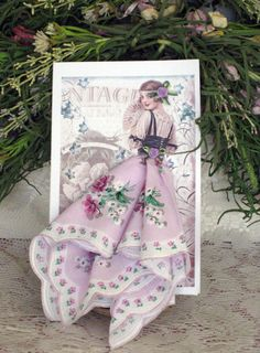 Vintage Lady Hanky Card by onceuponahanky on Etsy, $8.00