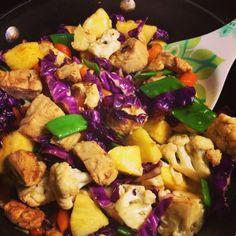 I Don't Go to the Gym: Teriyaki Pineapple Chicken & Veggies Stir Fry