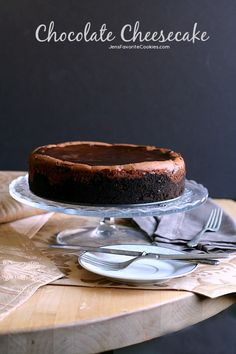Chocolate Cheesecake from JensFavoriteCookies.com - rich, creamy, and full of chocolate!