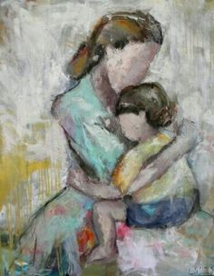 Got You by Lisa Moore ~ x Watercolor Quilt, Watercolor Paintings, Figure Painting, Painting & Drawing, Mother Painting, Frida Art, Mother Art, Figurative Art, Painting Inspiration