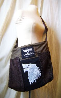 Sac Arya Stark Game of thrones le trone de fer  winter par Emillye