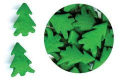 Christmas Tree Shaped cookie and cupcake Sprinkles - Large green trees 1 oz Buy Christmas Tree, Christmas Tree Cookies, Christmas Cupcakes, Xmas Tree, Cupcake Supplies, Cake Decorating Supplies, Christmas Sprinkles, Christmas Baking, Sweetarts