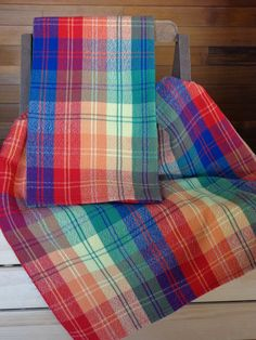 Plaid handwoven towels