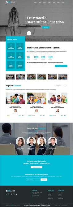EduLearn hub is clean and modern design responsive bootstrap HTML5 #template for multipurpose #onlinecourses, college, #LMS and #education website with 11 different homepage layouts to live preview & download click on image or Visit #webdesigns
