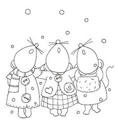 CHRISTMAS CAROLING (SINGING) MICE