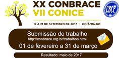 Blog do Sérgio Moura: XX CONBRACE - Submissão de Trabalhos CBCE 2017