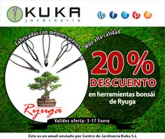 Oferta herramientas bonsais Ryuga del 3 al 17 de enero #jardinería #bonsai #bonsais