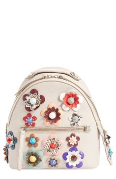 f7d5fda8ea34 Fendi Floral Appliqué Leather Mini Backpack available at  Nordstrom Fendi  Backpack