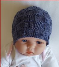 block stitch beanie knitting pattern for baby. Beanie Knitting Patterns Free, Beanie Pattern Free, Baby Hats Knitting, Crochet Patterns, Free Pattern, Knitted Baby Beanies, Kids Beanies, Crochet Beanie, Knitted Hats