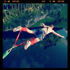 Bungee jumping in Interlaken, Switzerland #travel Follow us on #Instagram:  http://instagram.com/viatortravel