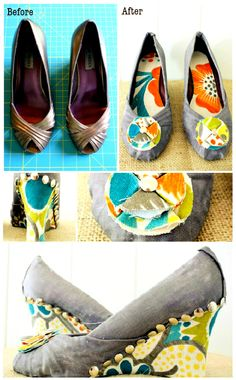 ReFab Diaries: Upcycle: Mod Podge Wedges... these r gorgeous!