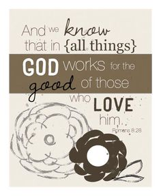God often allows hardship and suffering in our lives because He knows it will drive us to Him. His goal, in good times and in bad, is for us to always be growing more like His Son