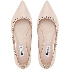 Dune Alexis Flat Leather Pumps, Blush ($44) ❤ liked on Polyvore featuring shoes, pumps, flats, heels, low heel shoes, genuine leather shoes, flat shoes, heeled flats and leather pumps