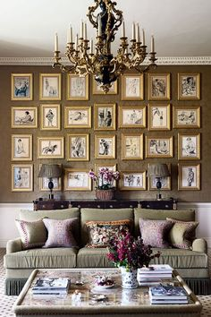 Discover ideas for displaying art on HOUSE - design, food and travel by House & Garden. A tableau of pretty oval frames hangs over this chest of drawers. Originally bound in a portfolio, decorator Mark Gillette has hung these drawings in a neat array.