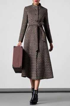 Dezzal - Dezzal Single Breasted Coat with Belt - AdoreWe.com
