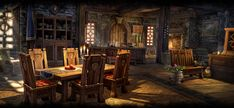 Homestead: Basics Guide - The Elder Scrolls Online Fantasy Inn, Fantasy Rooms, Fantasy Places, Medieval Fantasy, Fantasy World, Fantasy Village, Medieval Life, Environment Concept Art, Environment Design