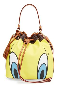 Moschino 'Looney Tunes - Tweety & Sylvester' Bucket Bag available at #Nordstrom