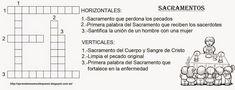 Blog Católico Parroquia Santa María de Baredo-Baiona: Crucigramas para aprender los Sacramentos