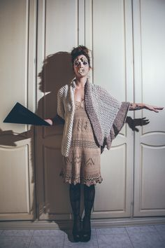 progetto per its contest 2015 (partecipant) dress knitted by hand and jacket+scarf knitted by hand ph:@lauramessina5