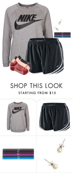 """""""Lazy outfit for after school:)"""" by flroasburn ❤ liked on Polyvore featuring NIKE, J.Crew and Zella"""