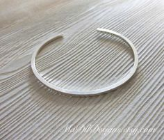 Square Sterling Silver Cuff Bracelet Mirror Finish  Sleek and Modern Made of 925 Silver by MaDilDesigns on Etsy, $32.00