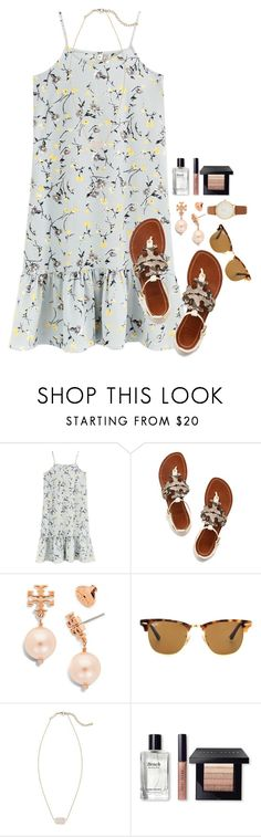 """Second day of exams complete!!"" by flroasburn ❤ liked on Polyvore featuring Tory Burch, Ray-Ban, Kendra Scott, Bobbi Brown Cosmetics and Kate Spade"