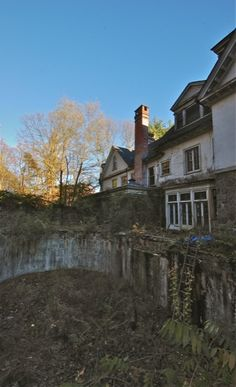 Hurstmont Estate.  Around the rear of the estate is a fabulous in ground pool rotting away.