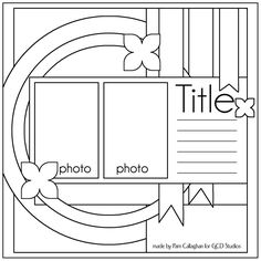 Ideas for Scrapbookers: Two Sketches and a Template!  Nice link to free templates & nice scrapbook layouts