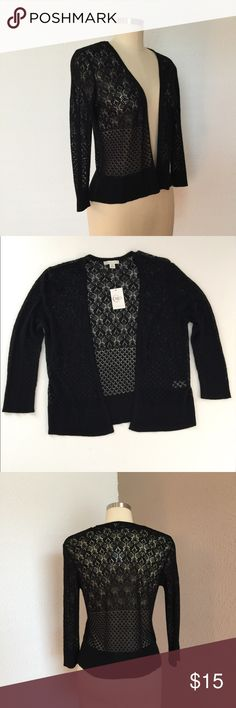 """New! CATO Open Stitch Cardigan Sweater in Black Your """"go-to"""" cardigan! New with tags. * Elbow sleeves * 100% rayon * Size: medium * Length: 22"""" Bust: 17"""" Cato Sweaters Cardigans"""