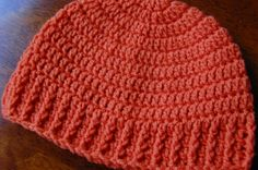 Good banding - wonder if the post stiches might provide better stretch and fit.  Men's Free Crochet Hat Pattern