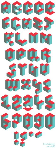 Isometric Typeface designed by myself.  #typography #design #graphicdesign…