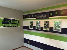 Seahawks makeover for boys bedroom #2