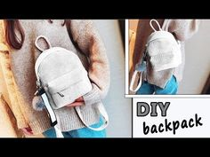 Best DIY Backpack design ever! Sew it from scratch by own hands really easy! ✂ Materials you need to make this DIY JEANS BAG: - the fabric - interfacing - . Diy Purse Backpack, Backpack Tutorial, Backpack Pattern, Diy Purse Organizer, Denim Tote Bags, Diy Clothes Refashion, Diy Bags Purses, Geek Crafts, Cute Backpacks