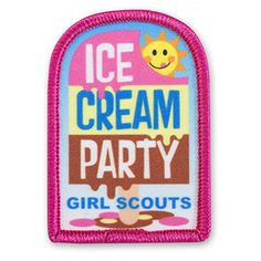ICE CREAM PARTY POPSICLE SEW-ON PATCH Cool Patches, Sew On Patches, Girl Scout Patches, Ice Cream Party, Popsicles, Girl Scouts, Badges, Lunch Box, Sewing