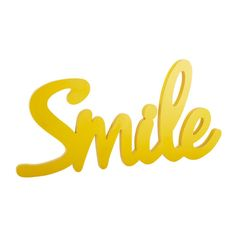 Arredo da parete giallo in legno L 93 cm SMILE