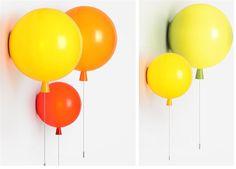 Moderna bambini spazio, festa, festival - il palloncino lampada da parete, luce…